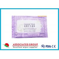 Personal Hygiene Wet Tissue Non Irritating Feminine Wipes Healthy Unscented Manufactures