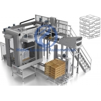 Stable Running Automatic Palletizer Machine 2-10 Layers Low Power Consumption Manufactures