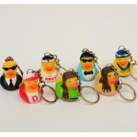 Quality OEM Singer / Swan Character Mini Duck Keychains Toy BPA Free Vinyl Material Kechain Duck toy for sale