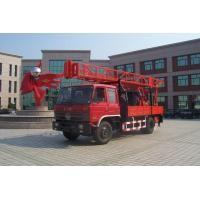 Portable Truck Mounted Water Well Drilling Rig , Hole Depth 300m - 600m Manufactures