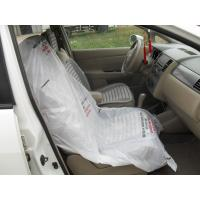 China LDPE Steering Wheel Disposable Car Seat Covers / Car Foot Mat / Gear Cover on sale