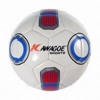 Buy cheap TPU machine stitched soccer ball, soft texture with yarn winding, suitable for from wholesalers