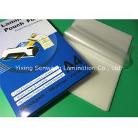 Quality A4 Size Hot Lamination Film Gloss Laminating Pouches For Office School for sale