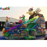 Bee Commercial Inflatable Slide With Full Printing , inflatable slip and slide Manufactures