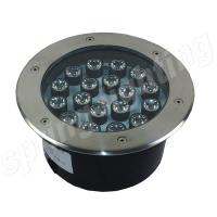 Outdoor Decorative Recessed RGB LED Flood Light , 18w IP65 Inground Light Manufactures
