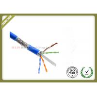 China 1000ft Cat6 SFTP Network Cable , 23AWG Cat6 Internet Cable With PVC / LSZH Jacket on sale