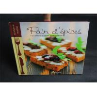 Publishing 2 Color Cook Book Printing With CMYK / Pantone Color thick cardboard Manufactures