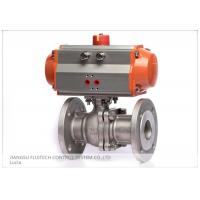 Stainless Steel Flanged Pneumatic Actuator Valve Control For Industrial Use Manufactures