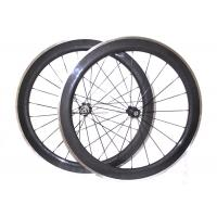 Quality 23MM Width Carbon Wheels With Aluminum Brake Track ,  V Shape Alloy Clincher Wheelset  for sale