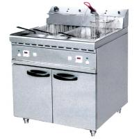 40L Electric Two Tank Fryer With Cabinet ZH-RCX2 , Commercial Kitchen Equipments Manufactures