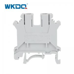 Din Rail JUK 3N Screw Electrical Terminal Block 10AWG Vibration Resistant Manufactures