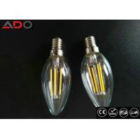 C35 Shape E12 Led Filament Bulb Ac 120v 4w 2700k With Clear Glass Cover Manufactures
