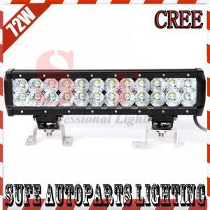 72W CREE LED Work Light Bar 12V 24V IP67 Flood Spot Combo beam 4WD 4x4 Off road Light Bar Manufactures