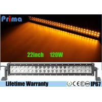 Dual Row 22 Inch Remote Control LED Light Bar Amber White Flash 120W Power Manufactures
