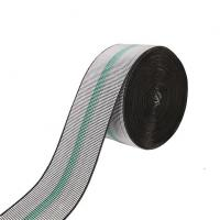Quality Strong 3 Inch Sofa Elastic Webbing 70mm Width Grey Color With Green Lines for sale