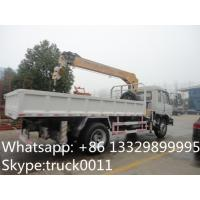 Quality 2017 best price Dongfeng 4*2 190hp 6.3ton truck mounted crane for sale, hot sale dongfeng 6.3tons truck with crane for sale