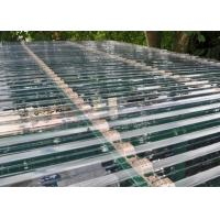 Transparent Corrugated Polycarbonate Sheets For Roof Covering 0.8 - 1mm Thickness Manufactures
