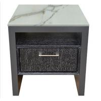 High end 5-STAR stone top oak wooden night stand /bed side table, casegoods,hotel furniture NT-0089 Manufactures