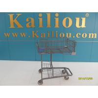 Wire foldable basket shopping trolleys for disabled , 4 swivel flat casters Manufactures