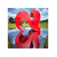 Red Color Painted Modern Garden Sculptures City Decoration Stainless Steel Heart Shaped Manufactures