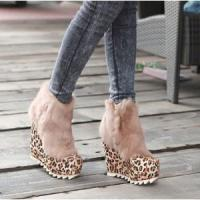 Buy cheap 2012 New Slope Thick Rabbit Hair Short High Heel Shoes from wholesalers