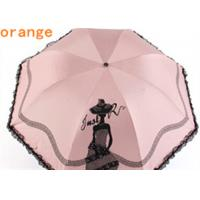 Two layer 3 fold automatic umbrella with art printed folding rain and sun Manufactures