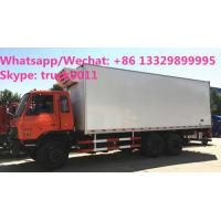 Quality durable best price dongfeng 6*4 LHD 210hp 15tons refrigerator truck for sale, for sale