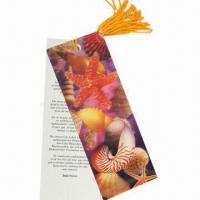 3D Bookmark, Made of Recycled PP with UV Offset Printing, Non-toxic and Eco-friendly Manufactures