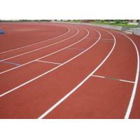Anti Static Outdoor Sports Court Flooring For Stadium / Track Surface Manufactures
