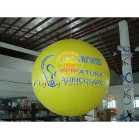 2.5m Yellow Inflatable Advertising Helium Balloons with Total Digital Printing for Party Manufactures