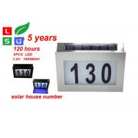 Wall Mounted Solar Powered Signs 5050 SMD LED Solar House Number Light Manufactures