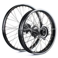 Quality OEM Aluminum Motorcycle Wheel Set With Hubs Stainless Steel Spokes for sale
