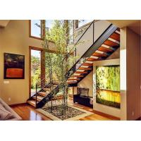 Prima Prefabricated Modern Straight Staircase Single Beam Tempered Glass Railing Manufactures