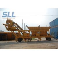 Small Capacity Mobile Concrete Batch Mix Plant / Portable Concrete Batch Plant Manufactures
