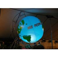 Customized Inflatable Earth Globe , PVC Helium Filling Pplanet Earth Balloons Manufactures