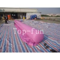 Quality 0.9mm PVC Tarpaulin Inflatable Big Air Slide / Circle / Blob For Water Purple or for sale