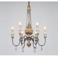 Buy cheap Wood candelabra chandelier Pendant lamp 6 Lights (WH-CI-61) from wholesalers