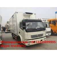 5ton refrigerated truck for fresh vegetables,factory best price dongfeng 5-7tons cold room tuck with CARRIER reefer Manufactures