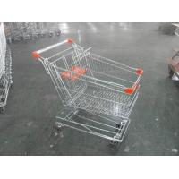 Quality Asian Style Metal Shopping Trolley 100KGS with Anti-rust Treatment for sale