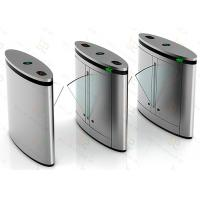 Quality Automated Turnstile Gate Systems, Crowd Access Control Flap Barrier Gate for sale
