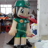 Inflatable green robot model carton Manufactures