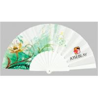 Custom Folding Hand Fans with plastic ribs and full color printed fabric ,  size 23cm Manufactures