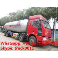 FAW brand 8*4 LHD lpg gas delivery truck for sale, hot sale best price 15tons bulk lpg gas propane storage tank truck Manufactures