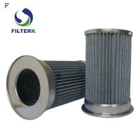 Pleated Vacuum Pump Filter Element , Clean Side Removal Vacuum Pump Inlet Filter Manufactures