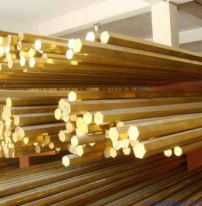 C3602 Grade Brass Round Metal Rod , Free Cutting Brass Alloy Bar Manufactures