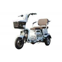 20AH Battery Electric Three Wheel Motorcycle , Cargo MopedWhite Plastic Body Manufactures