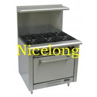 Kitchen equipment 6 burners gas stove with oven JBR36-6 Manufactures