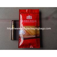 Humidification System Resealable Ziplock Cigar Bags With Slider Manufactures