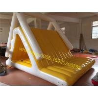 yellow and white colours lake water slide toys for sale Manufactures