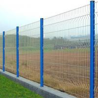 Green vinyl pvc coated weld steel wire mesh fence/4mm wire c/w fence post Manufactures